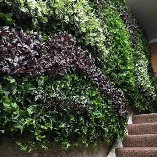 artificial green wall sizes