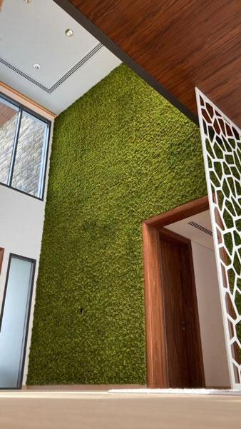 artificial moss wall In a private villa