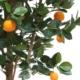 faux orange tree leaves